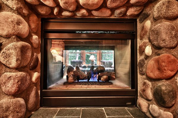 Cherry Ridge of Hocking Hills deluxe Cottages fireplace