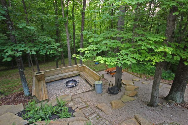 Cherry Ridge of Hocking Hills Oak Ridge outdoor fire pit
