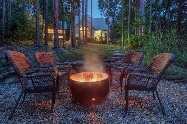 Cherry Ridge of Hocking Hills Waters Edge outdoor fire pit