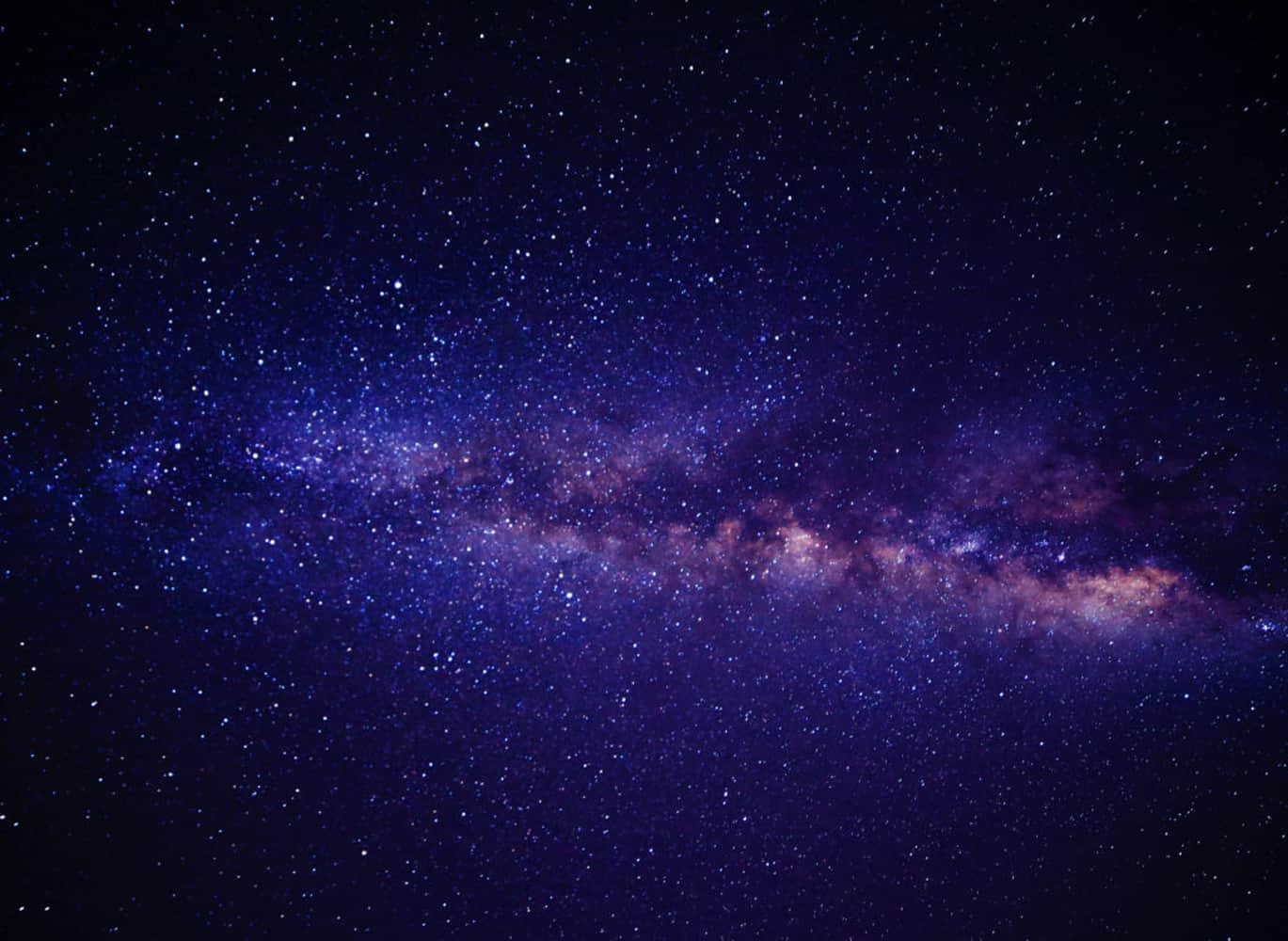 night sky view in hocking hills ohio