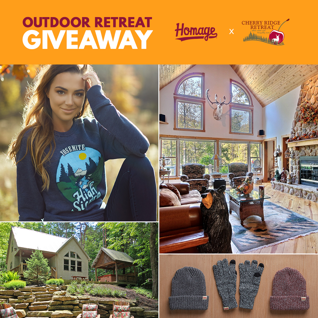 Outdoor Retreat Giveaway from Homage at Cherry Ridge Retreat of Hocking Hills