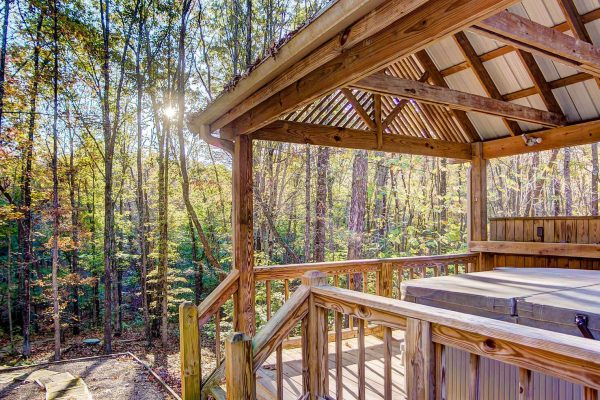 Whispering Pines Hocking Hills Cabin Hot Tub