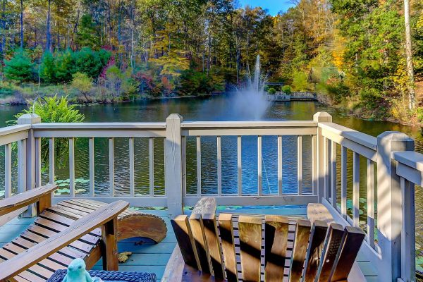 The Lake House Cabin in Hocking Hills Deck View
