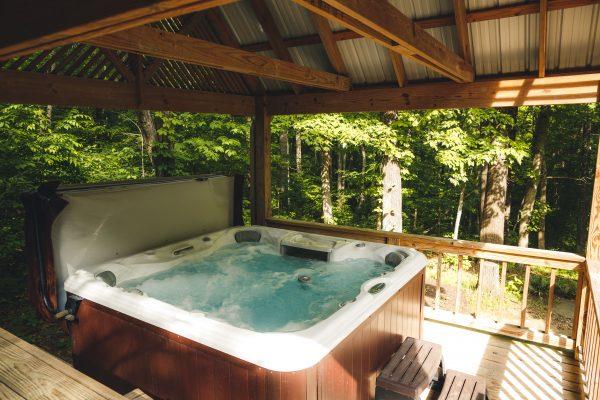 The Hot Tub at Oak Ridge Cabin