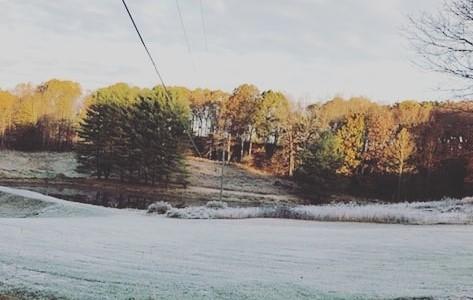 Frost morning at Cherry RIdge
