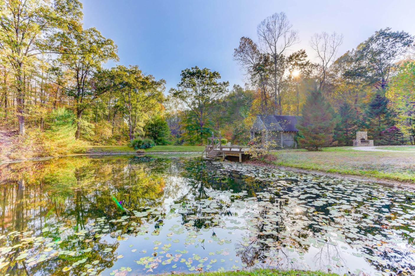 Pond and Gazebo