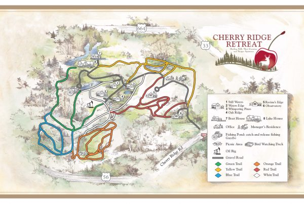 Cherry Ridge Trail Map