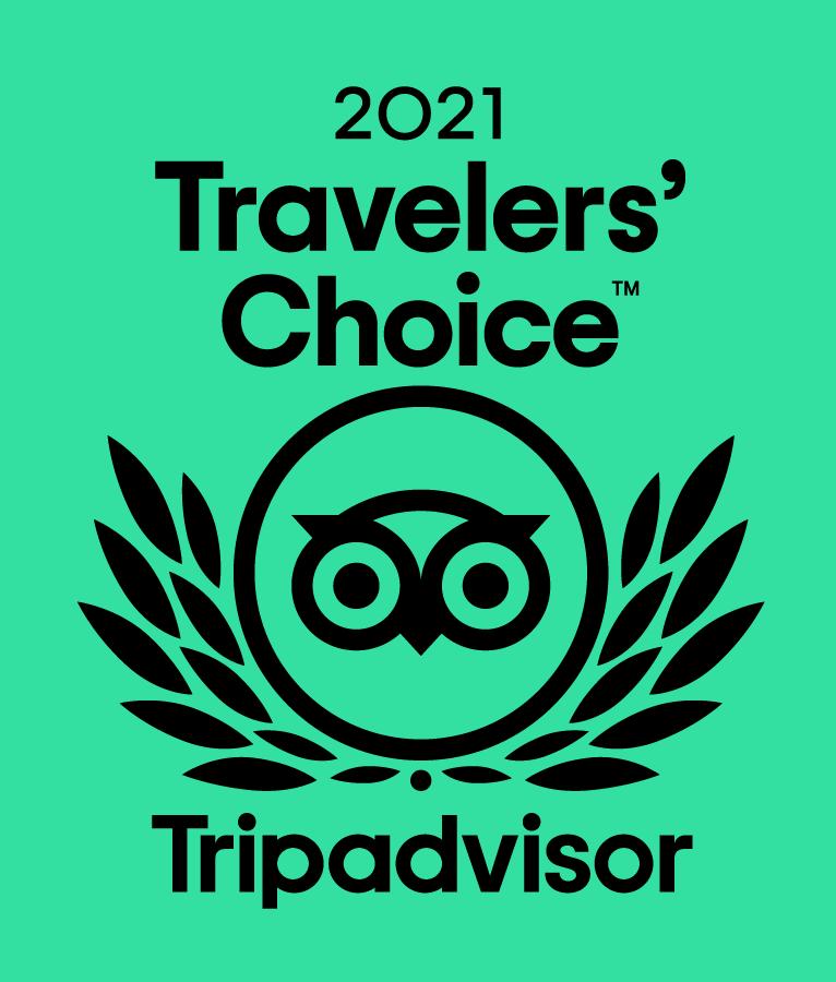 Trip Advisor 2021 Travelers Choice Award